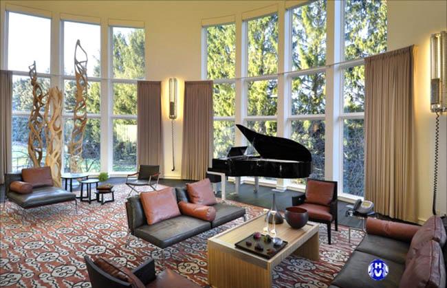 Mẫu rèm phù hợp với không gian mở của căn phòng khách