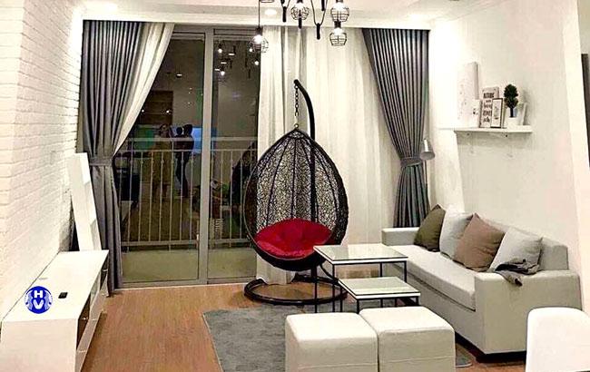 Mẫu thiết kế rèm cửa sổ đẹp phòng khách tại Nam Từ Liêm bởi Hải Vân