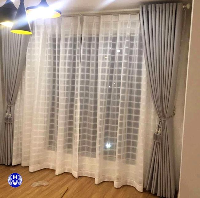 Mẫu thiết kế rèm cửa sổ một lớp tại ba đình