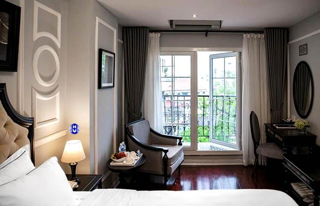 Mẫu thiết kế rèm cửa sổ tại khách sạn Mango Hotel Đống Đa