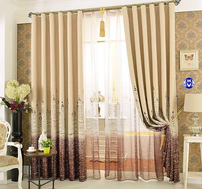 Một thiết kế rèm giá rẻ đơn giản tại Hà Nội