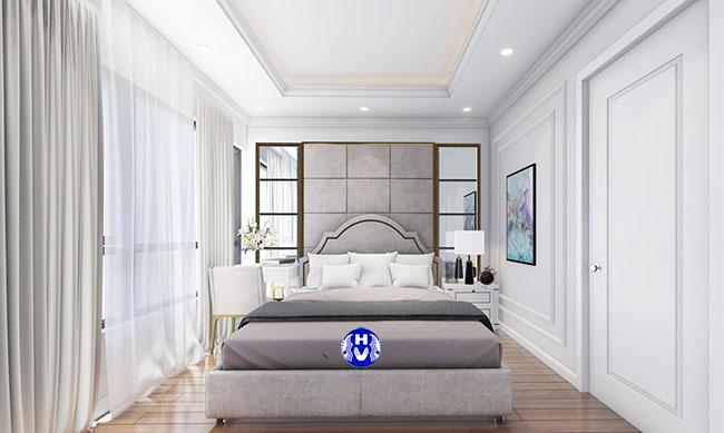 phối màu rèm cửa phòng ngủ master
