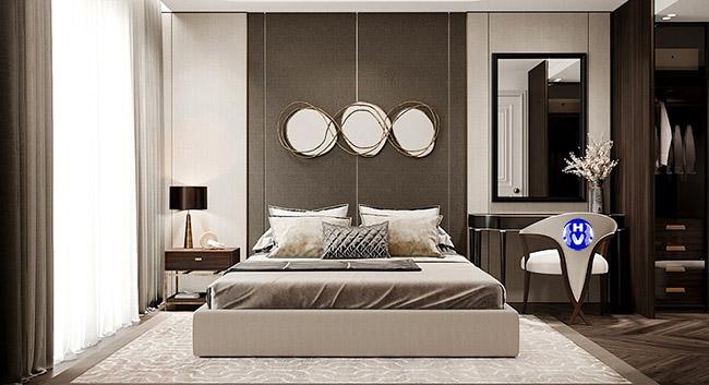 Phòng ngủ hiện đại không thể thiếu một bộ rèm cửa cao cấp đẹp