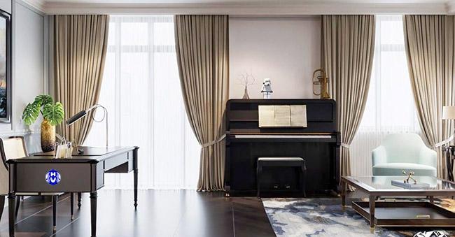 rèm cửa cao cấp phòng piano hv 148