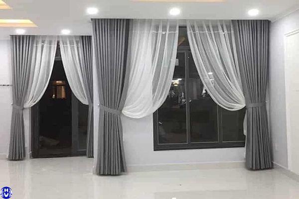 rèm cửa sổ hiện đại nhà phố tại hoàng quốc việt cầu giấy