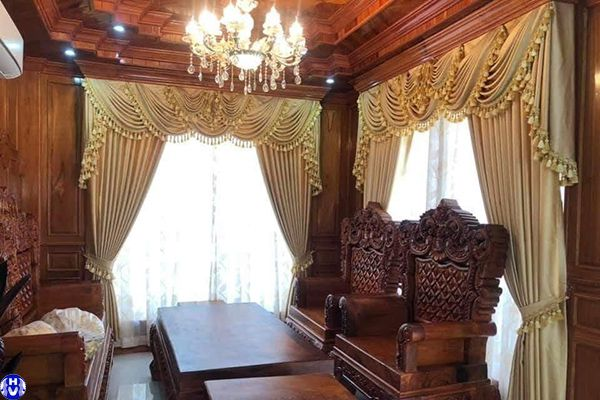 rèm cửa sổ tân cổ điển cho lâu đài tại quận cầu giấy