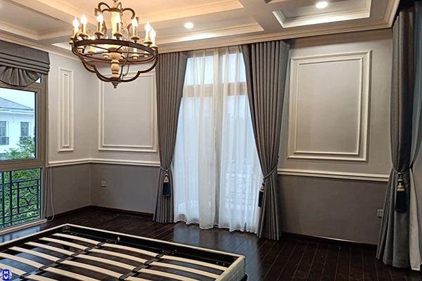 rèm cửa trơn một màu cửa sổ nhỏ chất liệu cao cấp lắp tại quang lai thanh trì