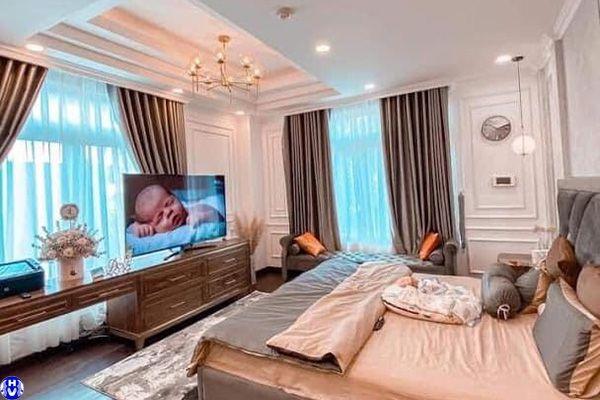 Rèm vải gấm cửa sổ nhập khẩu cao cấp dành phòng ngủ lắp ở âu cơ