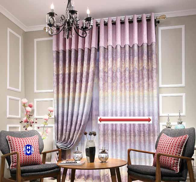 Sử dụng cách tính giá theo rộng cửa với mẫu rèm cửa bằng vải