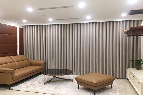 Mẫu rèm cửa sổ chất liệu cotton giá rẻ thiết kế che nắng phòng khách