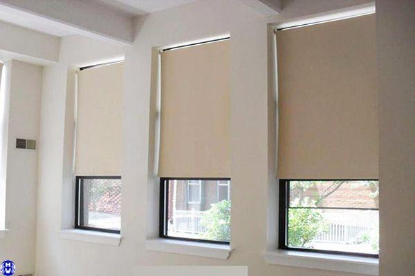 Mẫu rèm cuốn rẻ đẹp thiết kế theo kích thước cửa sổ văn phòng