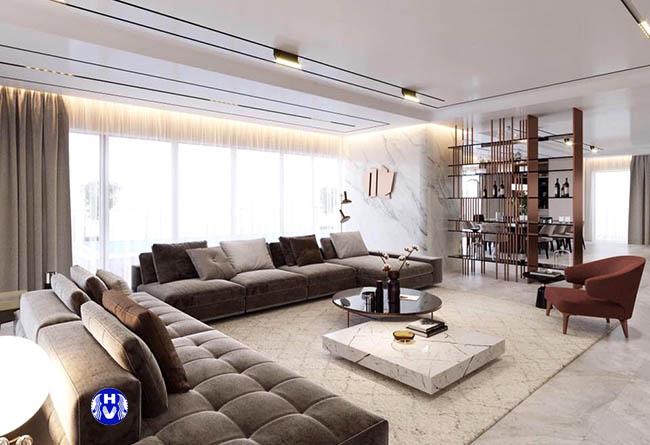 Bạn sở hữu một căn chung cư hiện đại thì không thể bỏ qua mẫu rèm cửa phòng khách đẹp này