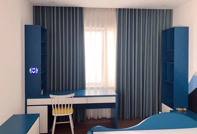Bộ rèm giá rẻ màu xanh navy cho phòng ngủ