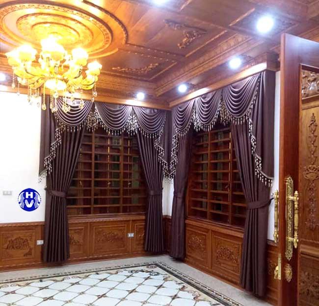Chọn chất liệu phù hợp rèm cửa theo phong thủy phòng khách luôn được chú trọng