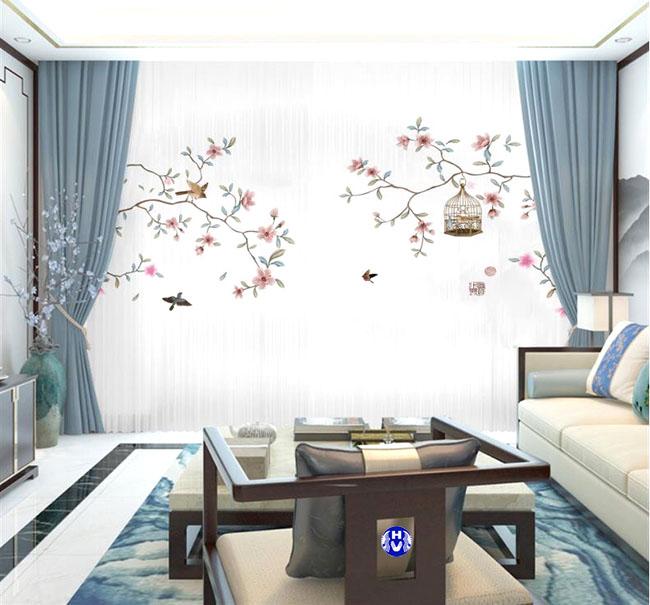 Không gian rộng giúp bộ rèm cửa 2 lớp toát lên được vẻ đẹp vốn có