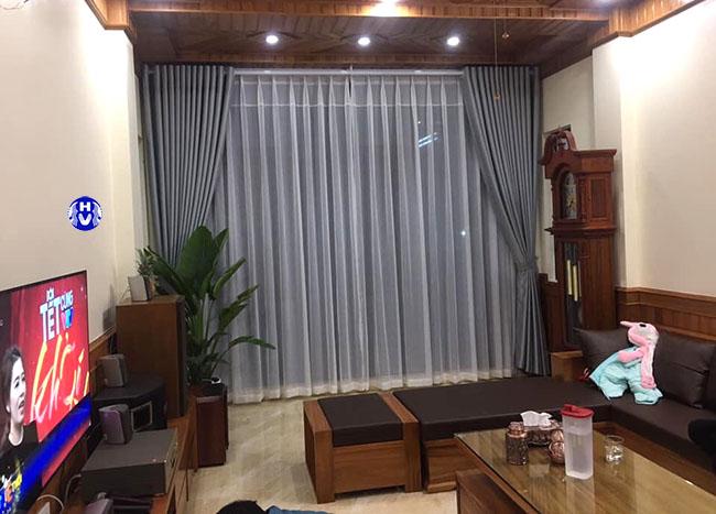 Mẫu rèm cửa 2 lớp cho phòng khách hiện đại