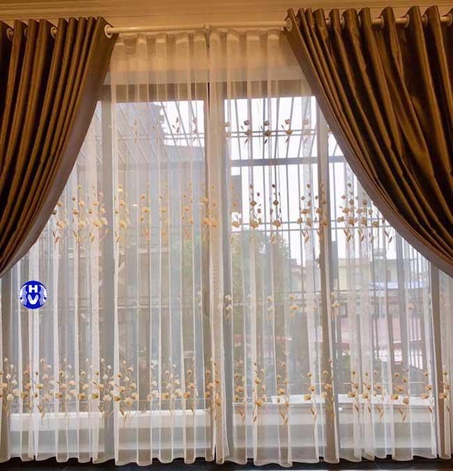 Mẫu rèm cửa đẹp phòng khách tại Hà Nội