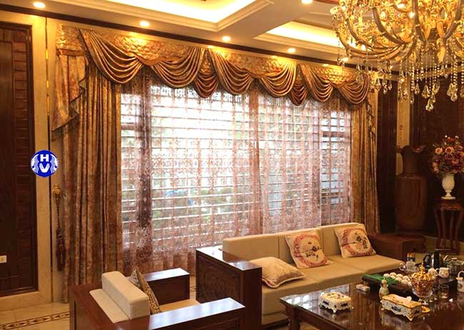 Mẫu rèm cửa phòng khách 3 lớp tăng vẻ đẹp không gian thêm đẳng cấp