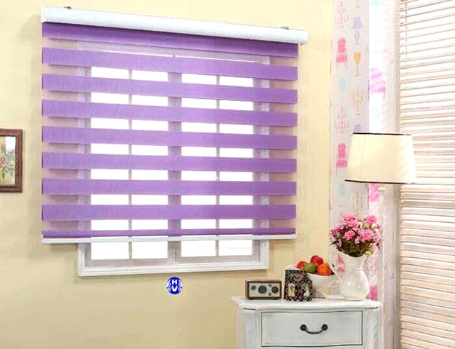 Mẫu rèm cửa sổ cầu vồng màu tím được yêu thích