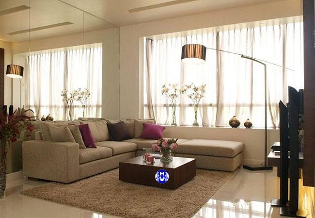 Mẫu rèm cửa sổ rẻ đẹp thiết kế cho phòng khách chung cư