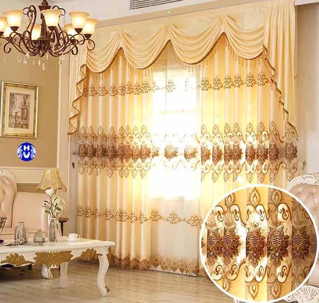 Mẫu rèm đẹp cho phòng khách thiết kế bởi Hải Vân