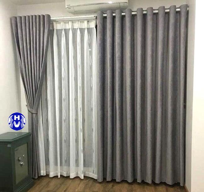 Mẫu rèm kéo ngang thiết kế theo kiểu may ore cho lớp ngoài