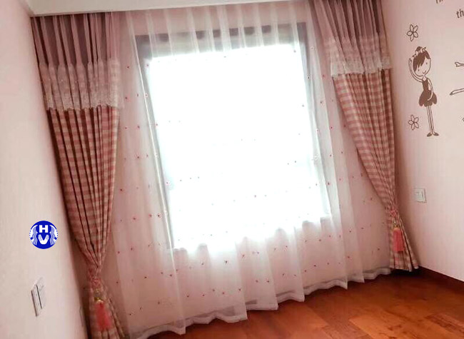 Mẫu rèm kéo ngang thiết kế theo kiểu may xếp lớp