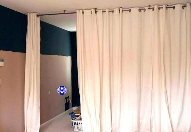 Mẫu rèm ngăn nhiệt thoát ra từ phòng ngủ