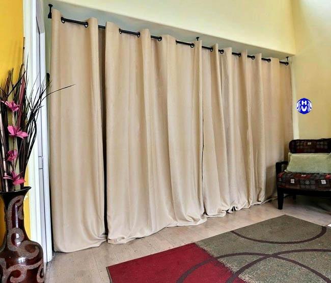 Mẫu rèm ngăn phòng ngủ một lựa chọn thông minh cho các căn phòng hạn chế diện tích