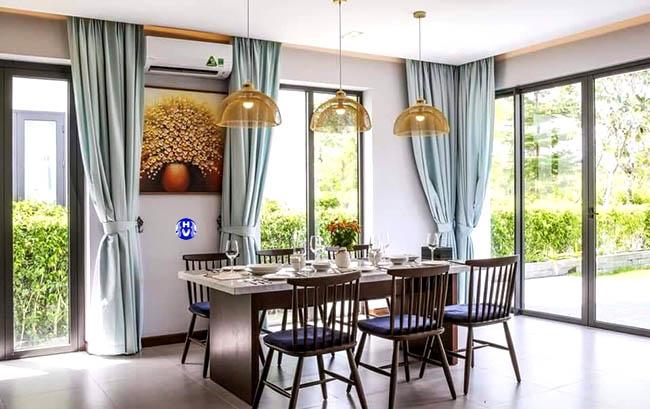 Mẫu thiết kế rèm cửa đẹp biệt thự tại Hà Nội