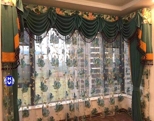 Một trong các kiểu rèm cửa đẹp thiết kế bởi đội ngũ nhiều năm kinh nghiệm Hải Vân
