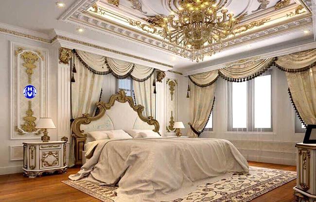 Một trong các mẫu rèm cửa sổ phòng ngủ thiết kế bởi Công Ty Hải Vân