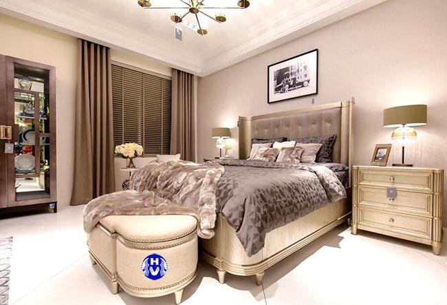 Một trong mẫu rèm cửa phòng ngủ đẹp được Hải Vân thiết kế cho khách hàng