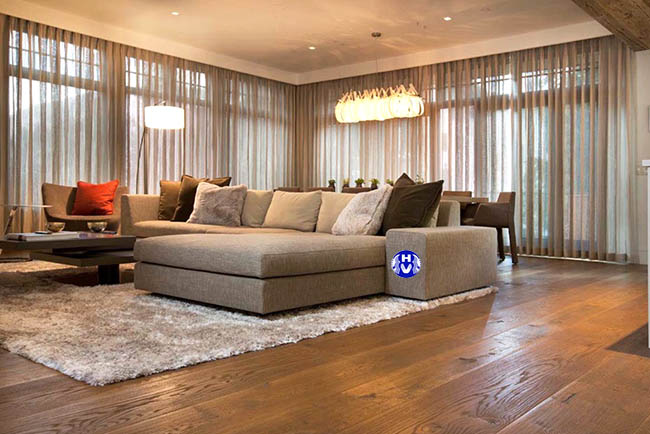 Một trong những mẫu rèm cửa phòng khách đẹp được rất nhiều khách hàng ưu ý lựa chọn