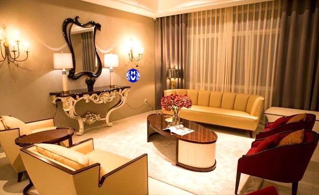 Những bộ rèm càng làm tăng sự cuốn hút phòng khách thêm phần sang trọng