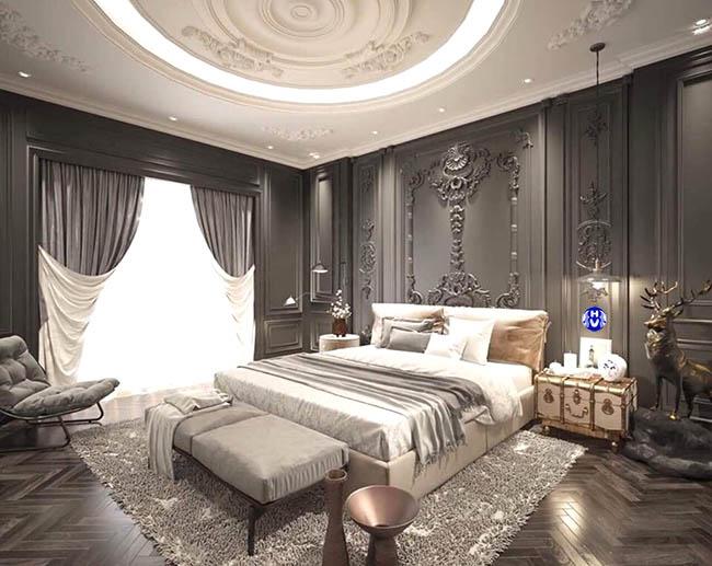 Với các mẫu thiết kế rèm cửa sổ tân cổ điển giúp căn phòng ngủ tráng lệ