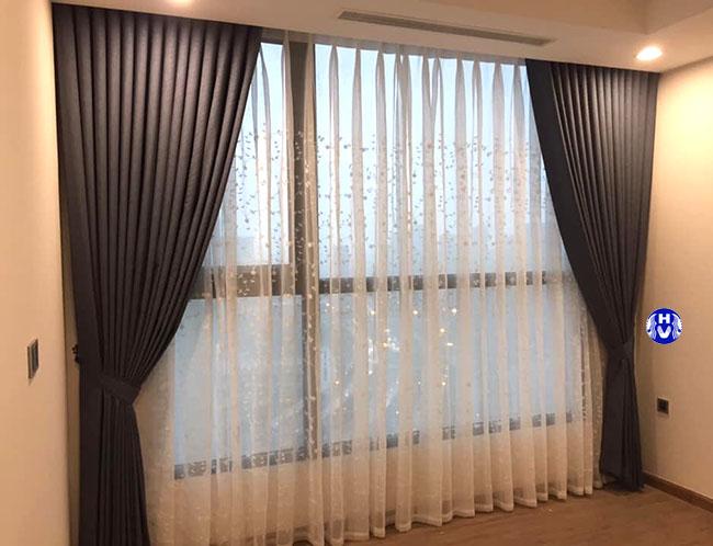 Mẫu rèm cửa hai lớp đẹp trong không gian chung cư hiện đại