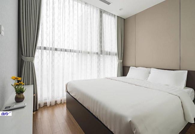 Đây là mẫu rèm chung cư thiết kế cho phòng ngủ rất được lòng khách hàng