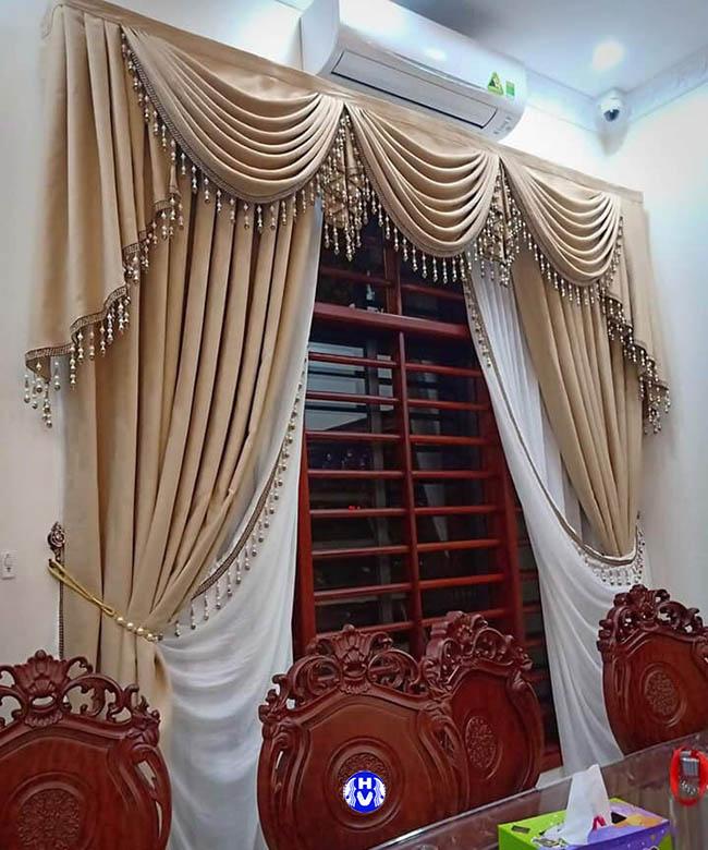 Giá cả rèm cửa vải gấm đi đôi với nguồn gốc xuất xứ rõ ràng