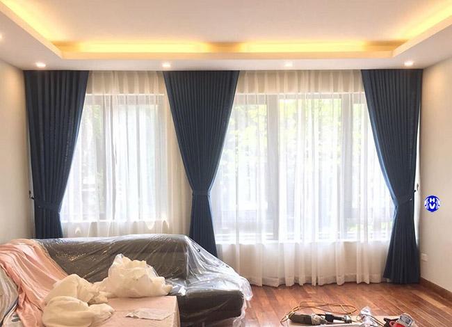 Hình ảnh: Những không gian có khung cửa lớn lựa chọn rèm hai lớp luôn được khách hàng ưu tiên