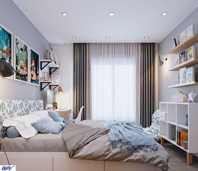 Mẫu rèm có khả năng cản sáng tuyệt đối cho phòng ngủ chung cư