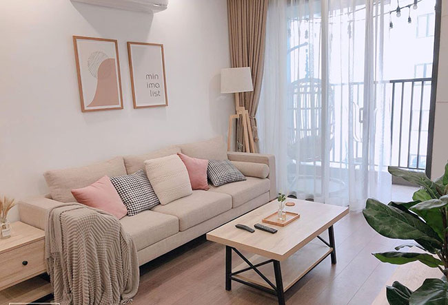 Mẫu rèm đẹp giúp căn phòng chung cư thêm phần nhẹ nhàng ấm áp