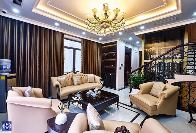 Mẫu rèm trang trí kết hợp chống nóng hiệu quả cho phòng khách
