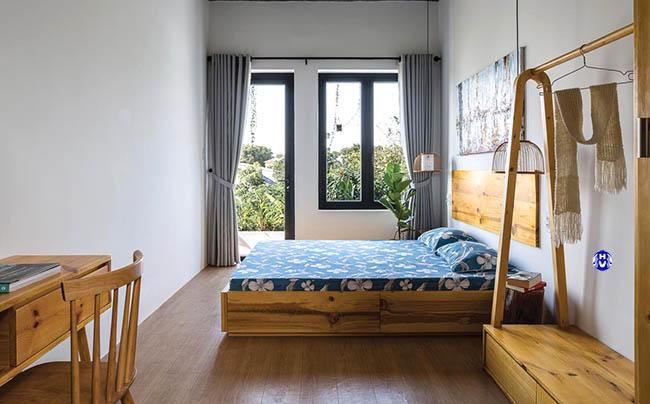 Mẫu rèm vải che nắng cửa sổ phòng ngủ
