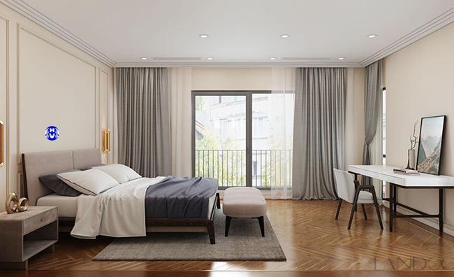 Một trong các mẫu rèm cửa sổ được rất nhiều khách hàng yêu mến lựa chọn cho phòng ngủ
