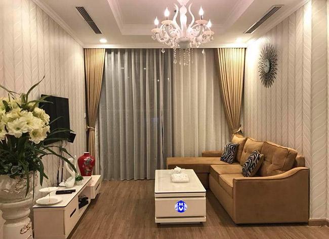 Phòng khách các chung cư không thể thiếu một mẫu rèm cửa sổ chắn nắng