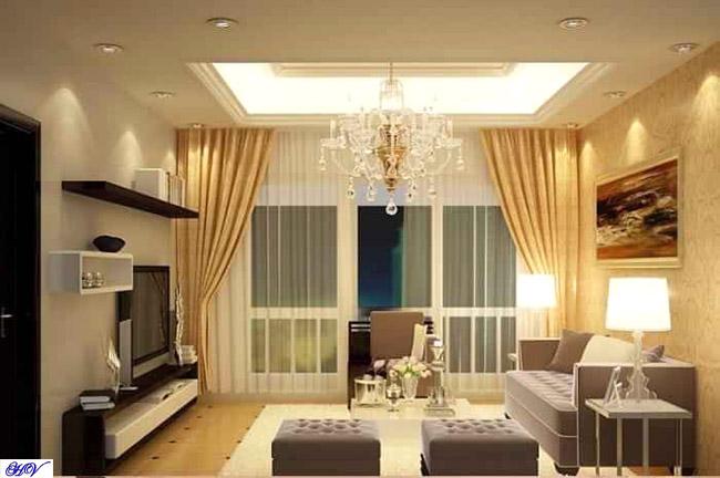 Rèm chung cư phòng khách bên Hải Vân thiết kế