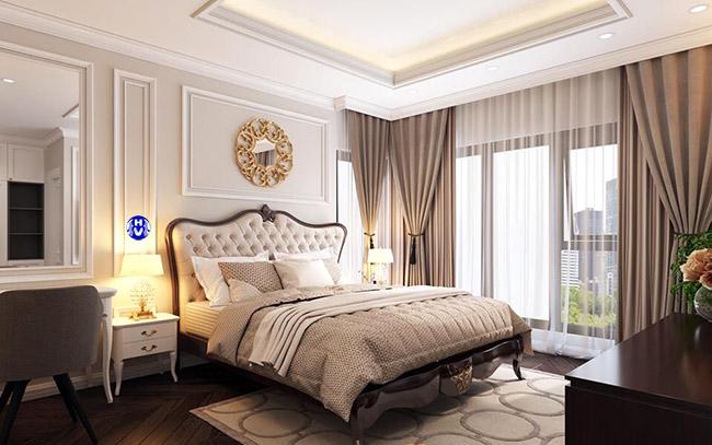 Tấm rèm cửa giúp giảm nhiệt xâm nhập từ môi trường bên ngoài làm căn phòng luôn mát mẻ