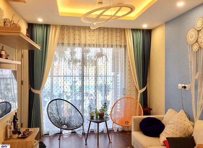 Các thiết kế rèm của Hải Vân luôn được lòng khách hàng sinh sống tại chung cư