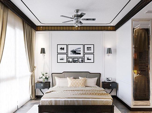 Căn phòng ngủ hiện đại càng trở lên sang trọng với mẫu rèm cửa thiết kế vô cùng tinh tế